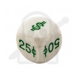 Money Dice U.S. Symbols 16 mm RPG kostka pieniądze dolary K6
