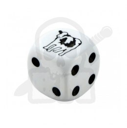 Kostka kość K6 krowa 16 mm Cow Dice