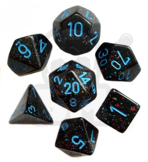 6bd3186b754d27 Battle-Models > Kości RPG 7 szt. + pudełko kpl. Speckled Blue Stars ...