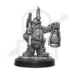 Dara Dwarf adventurer with lamp - miner