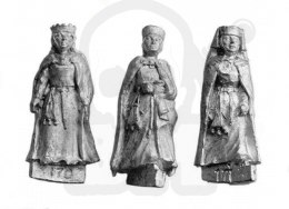 Medieval Ladies with Cloak, XIII century - 3 pcs