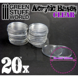 Acrylic Bases - Round 32 mm CLEAR x20