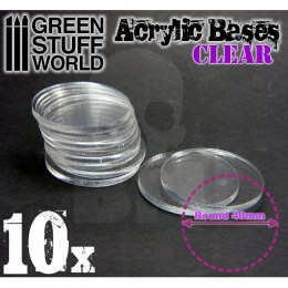Acrylic Bases - Round 40 mm CLEAR x10