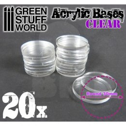 Acrylic Bases - Round 30 mm CLEAR x20