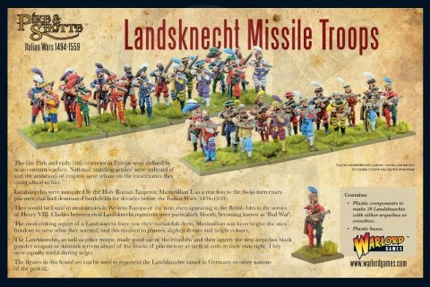 Pike & Shotte Landsknecht missile troops - 30 szt.