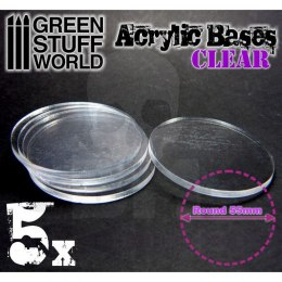 Acrylic Bases - Round 55 mm CLEAR x5