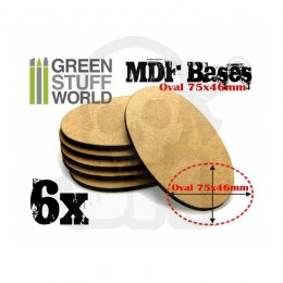 MDF Bases - Oval 75x46mm x2