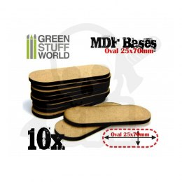 MDF Bases - Oval Pill 25x70mm x10