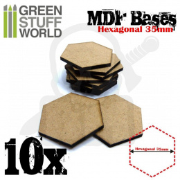MDF Bases - Hexagonal 35 mm x10
