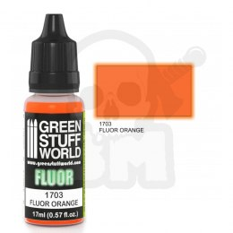 Fluorescent acrylic paint - Fluor Paint Orange
