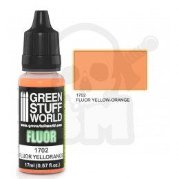 Fluorescent acrylic paint - Fluor Paint Yellow-Orange