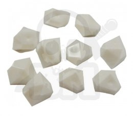 Opaque Gem 10 mm White
