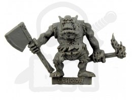 Orc with Axe and Torch - Ork z Toporem i Pochodnią