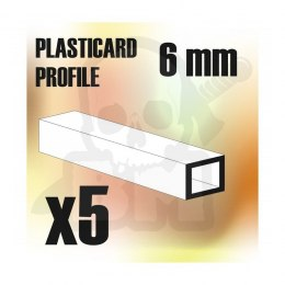 ABS Plasticard - profile SQUARED TUBE 6mm x5