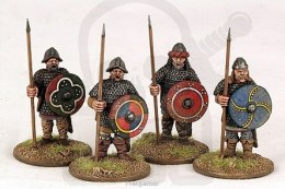 Carolingian Hearthguard On Foot 4 szt. SAGA