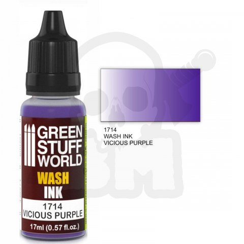 Green Stuff Wash Ink Vicious Purple 17ml