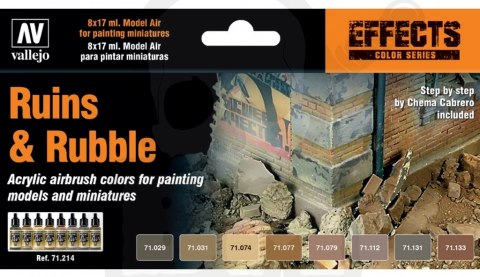 Vallejo 71214 Zestaw Model Color 8 farb - Ruins & Rubble