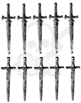 Two-handed sword - metal weapon 10 pc