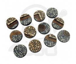 Cobblestone Bases, Round 25mm - 5 pcs