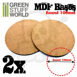 MDF Bases - Round 100mm x2