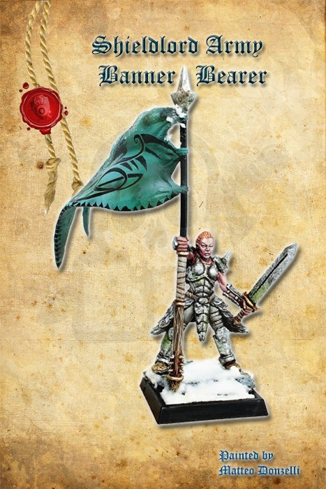 Shieldlord Army Banner Bearer - 1 szt.