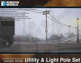 Utility & Light Pole Set (28mm sized)