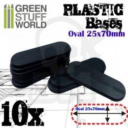 Plastic Oval Pill Base 25x70mm