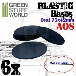 Plastic Oval Base 75x42mm