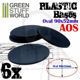 Plastic Oval Base 90x52mm