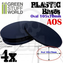 Plastic Oval Base 105x70mm