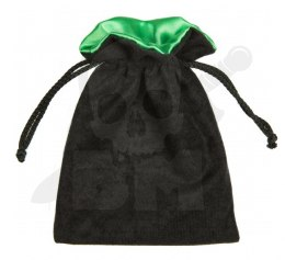 Black/Green Dice Bag 15x12cm