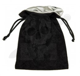 Black/Silver Dice Bag 15x12cm