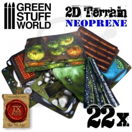 2D Neoprene Terrain Set
