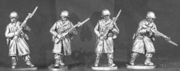 US Winter infantry with fixed bayonets