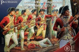 American War of Independence British Infantry 1775-1783 38 szt.