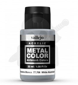 Vallejo 77706 Metal Color 32 ml White Aluminium