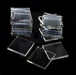 Acrylic Bases - Square 25 mm CLEAR x20