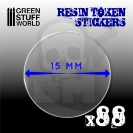 Resin Token Stickers 15mm
