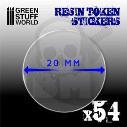 Resin Token Stickers 20mm