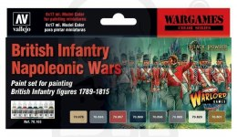 Vallejo 70163 Zestaw Model Color 8 farb - British Infantry Napoleonic Wars