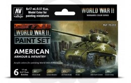 Vallejo 70203 Zestaw Model Color 6 farb - WWII American Armour & Infantry