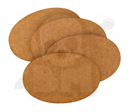 HDF Bases - Oval 105 mm x 70 mm - 4 pieces