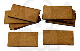 HDF Bases - Rectangular 50 mm x 25 mm - 10