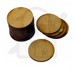 HDF Bases - Round 25 mm x20 Thickness: 1,5mm