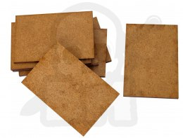 HDF Bases - Rectangular 75 mm x 50 mm - 8