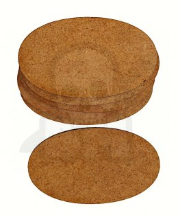 HDF Bases - Rectangular 60 mm x 35 mm - 6 pieces