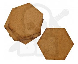 HDF Bases - Hexagonal 75 mm x5