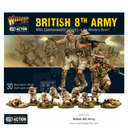 British 8th Army (plastic box) - 30 pieces