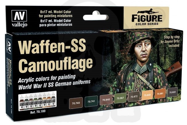 Vallejo 70180 Zestaw Model Color 8 farb - Waffen SS Camo
