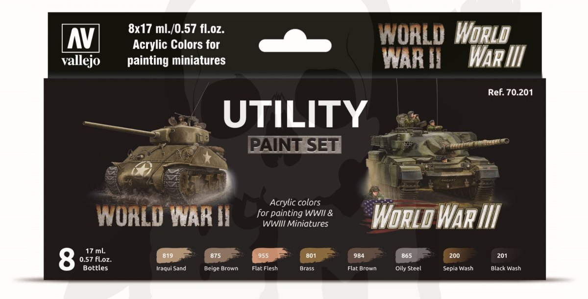 Vallejo 70201 Zestaw Model Color 8 farb - World War II & III